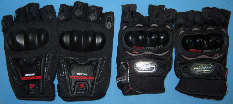Offroad Vietnam Motorbike Adventures - Riding Gear For Motorbiking Safely in Vietnam. Fingerless gloves and full Knighthood gloves provided by Offroad Vietnam