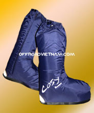 Riding Gear For Motorbiking Safely in Vietnam. Rain shoes, rainshoes