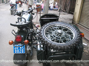 Offroad Vietnam Motorbike Adventures - Restored Sidecars In Hanoi By Cuong. Russian sidecar Ural, Vietnam