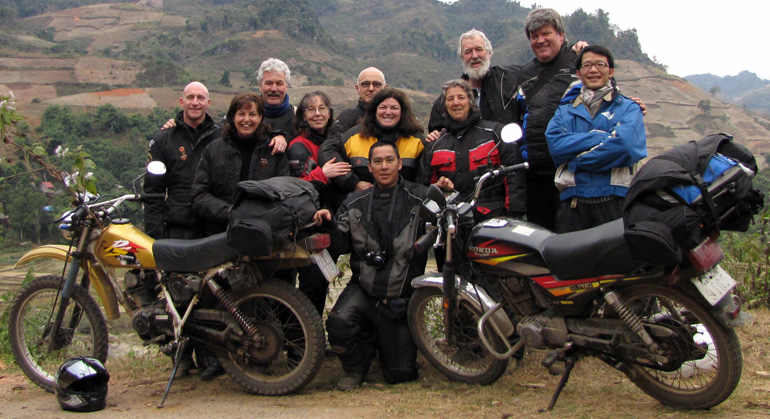 Offroad Vietnam Motorbike Adventures - Riding Vietnam, Article Buy Guy Allen. The Lemmings Motorcycle Club member ride in Vietnam