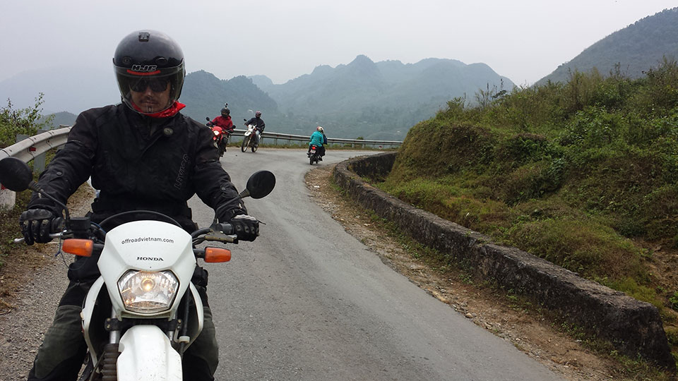 Albert Lee on a Vietnam motorbike tour December 2014