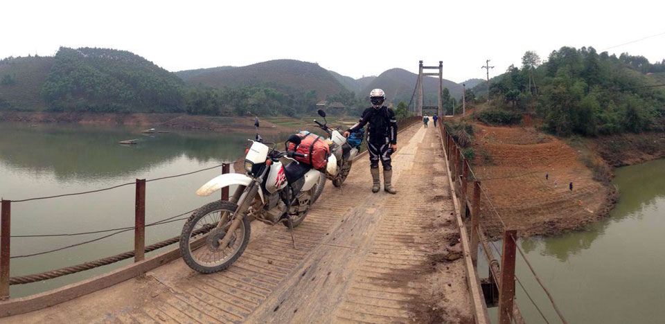 Simon Lister on an off-road motorbike tour of Vietnam