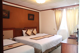Hotel Room Reservation In Hanoi: Guest rooms (living lounge) at Hanoi Boutique or Kim Tuc Hotel in Hanoi