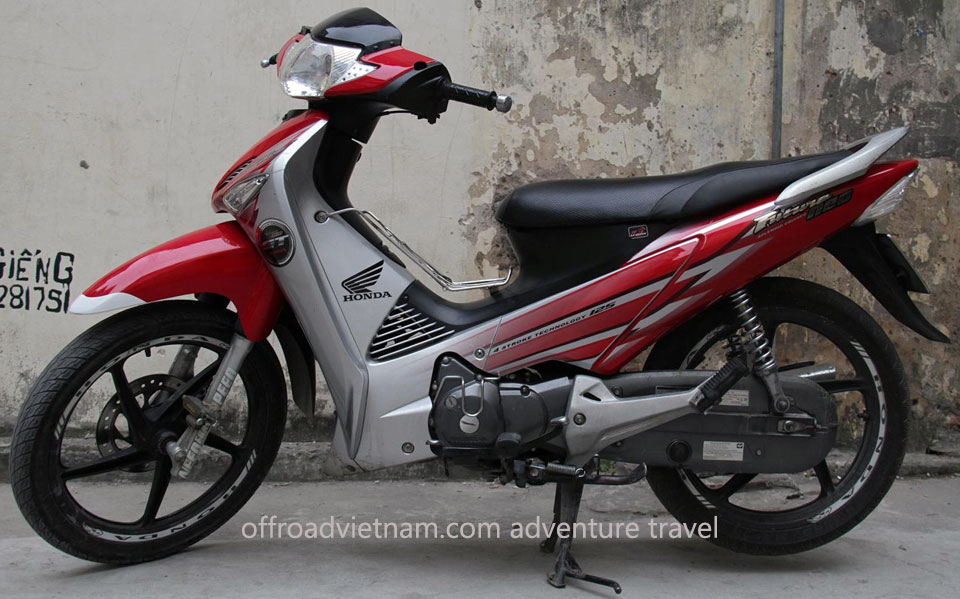 Offroad Vietnam Scooter Rental - Honda Future 2, Future Neo 125cc Rental In Hanoi. Honda Future 2, Future Neo 125cc: Honda Future Neo GT 125cc Red, Cast wheel, Disc brake