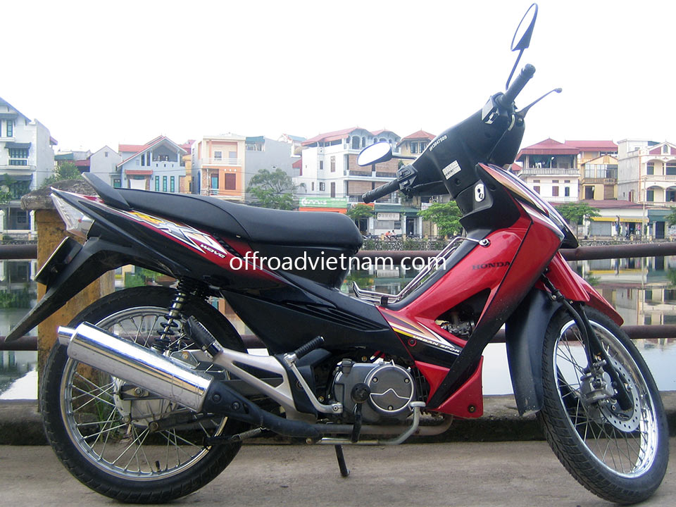 Offroad Vietnam Motorbike Sale - Honda Wave RSX 100cc Red Scooter Sale. Red, Black. Front Disc Back Drum Brake