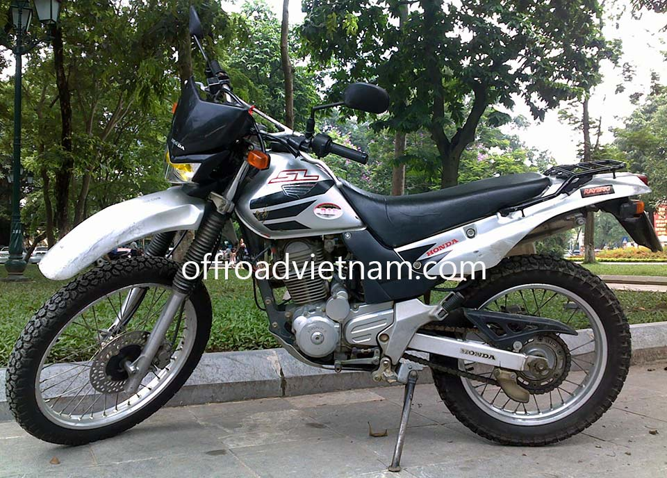 Offroad Vietnam Dirt Bike Rental - Honda SL 223cc Rental In Hanoi. Honda SL 223cc Rental In Hanoi: Honda dirtbike SL 223cc Silver, Front and Back Disc brake
