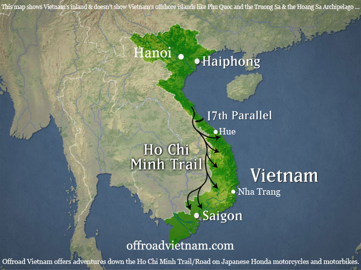 Offroad Vietnam Motorbike Adventures - Ho Chi Minh Trail Motorbike Tour 9 Days: Ho-Chi-Minh, Ho Chi Minh Trail/Road, Ho Chi Minh Trail, HCM Trail ride with Offroad Vietnam, Ride on historic Ho-Chi-Minh Trail on Truong Son mountain range. Ho Chi Minh Pfad, La piste Ho Chi Minh