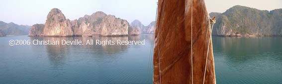 Offroad Vietnam Motorbike Adventures - Cruising In Halong Bay & Cat Ba: Traditional junk