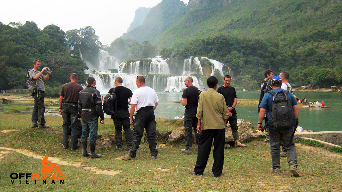 Offroad Vietnam Motorbike Adventures - 10 Days Northeast And Halong Bay Cruise with a stop at Ban Gioc waterfalls.