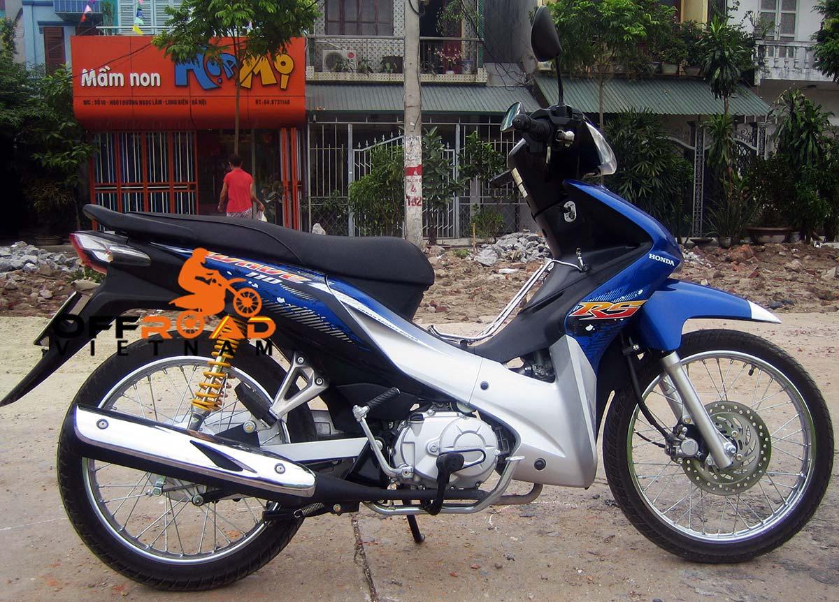 Offroad Vietnam Motorbike Sale - Used 2010 Honda Wave RS 110 For Sale In Hanoi. Blue, Silver, Black. Front Disc Back Drum Brake