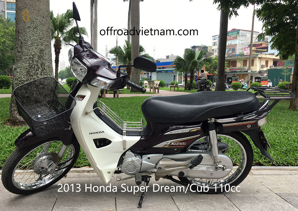 Offroad Vietnam Used Scooters For Sale In Hanoi - 2013 brown Honda Super Dream/Cub 110cc. Brown with drum brakes