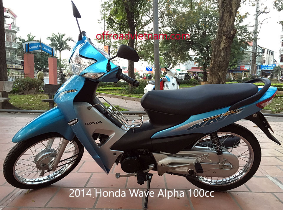 Offroad Vietnam Used Scooters For Sale In Hanoi - 2014 sky blue Honda Wave Alpha 110cc. Sky blue with drum brakes