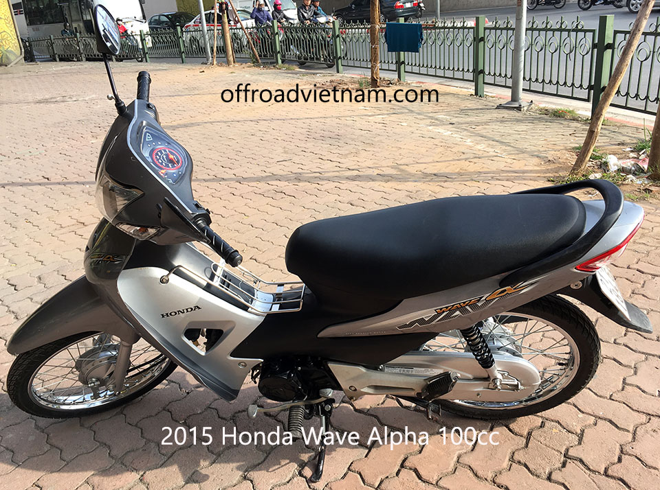 Offroad Vietnam Used Scooters For Sale In Hanoi - 2015 dark silver Honda Wave Alpha 110cc. Dark silver with drum brakes