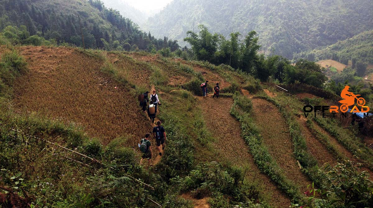 2 days Sapa trek of North Vietnam down to a local village.