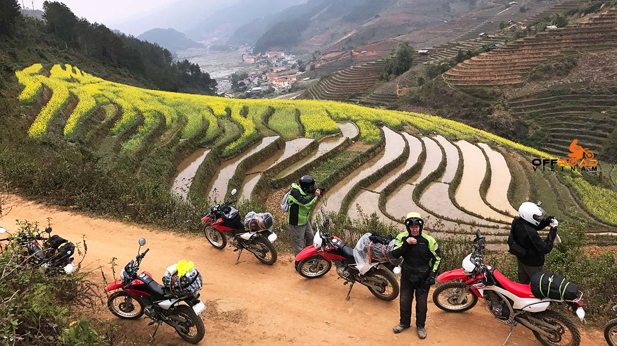 Offroad Vietnam Motorbike Adventures - 4 days Hoang Lien range motorbike tour by Honda CRF250L and XR150L.
