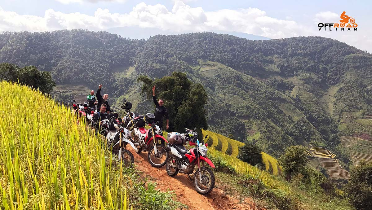 Offroad Vietnam Motorbike Adventures - 4 days North Centre motorbike touring with train from Hanoi to Lao Caiu and ride Sapa, Bac Ha, Vu Linh.