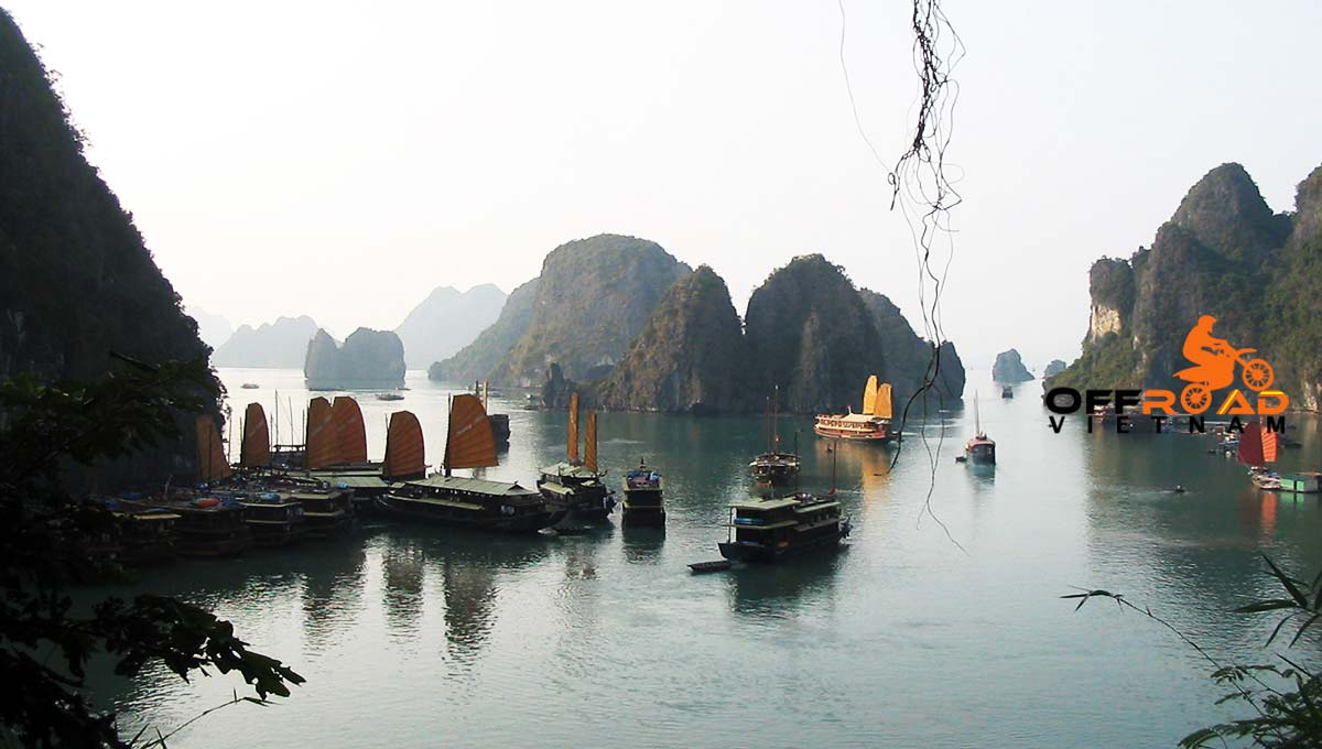 Offroad Vietnam Motorbike Adventures - Amazing Halong Bay cruise & Cat Ba with a night on the boat and by bus.