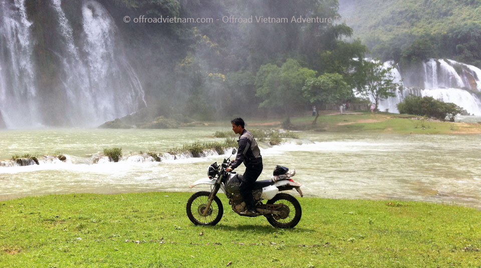 Offroad Vietnam Motorbike Adventures - Challenging Grand North Loop In 14 Days. Ban Gioc waterfalls motorcycle tours