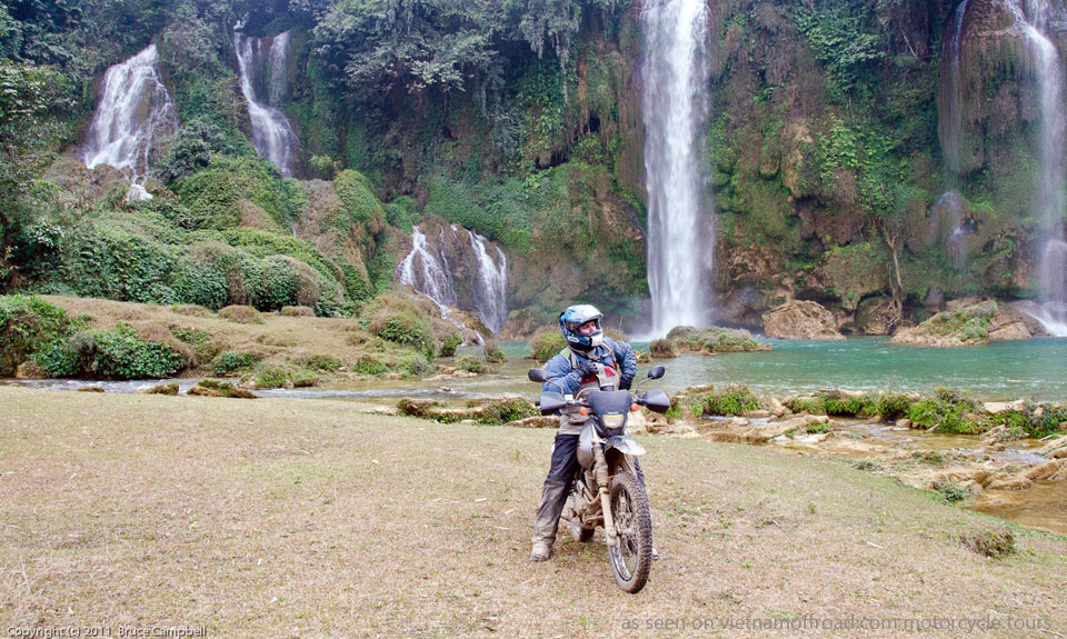 Offroad Vietnam Motorbike Adventures - Fantastic Grand North Loop 14 Days by Bike In Vietnam. Ban Gioc motorbiking
