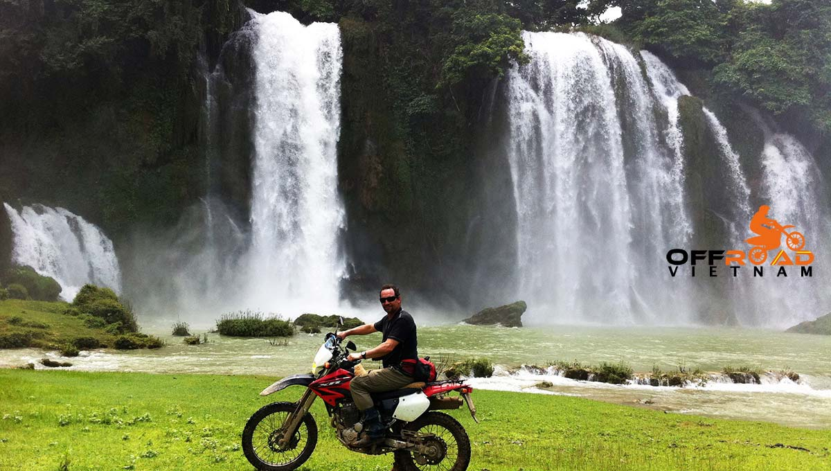 Challenging Grand North Loop In 14 Days. Ban Gioc waterfalls motorcycle tours