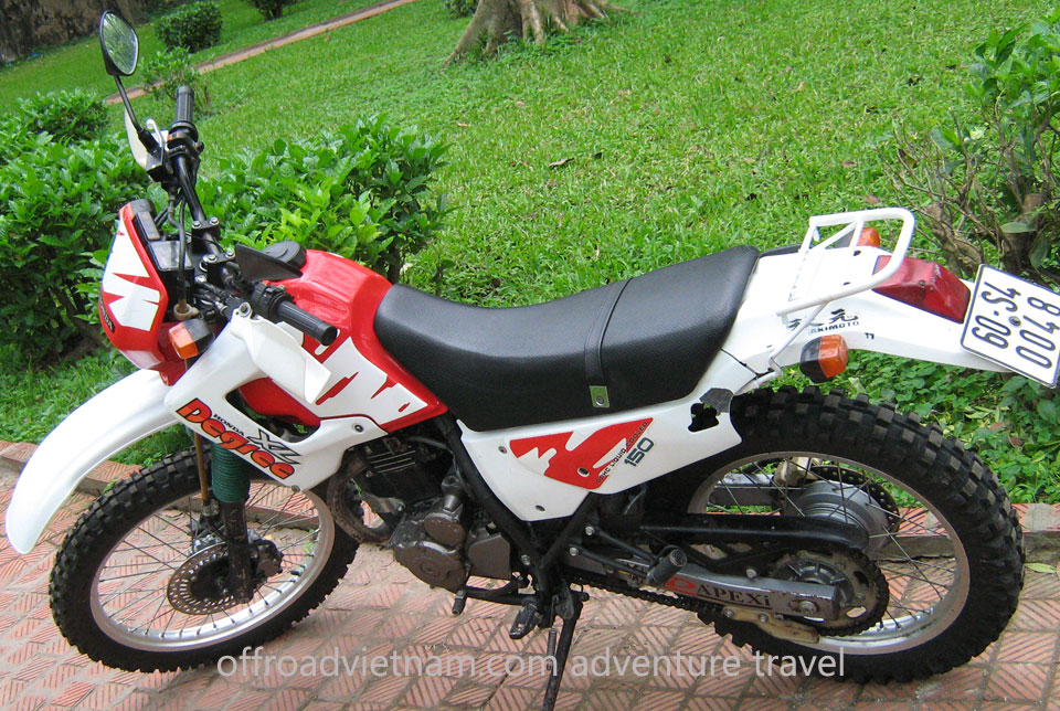 Offroad Vietnam Dirt Bike Rental - Honda XL Degree 250cc Dirt Bike Rental In Hanoi. Honda XL Degree 250cc Black, Front and Back Disc brake, XL Degree 250cc White, Front and Back Disc brake