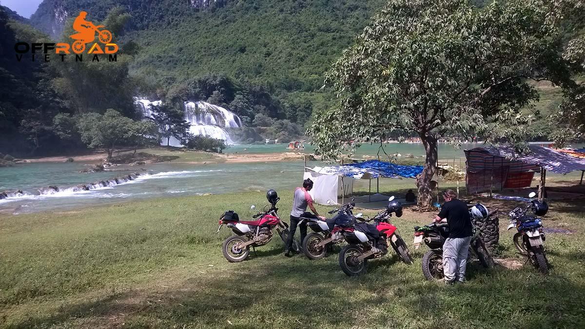 Grand North loop 12 days motorbike tour via Ban Gioc waterfalls.