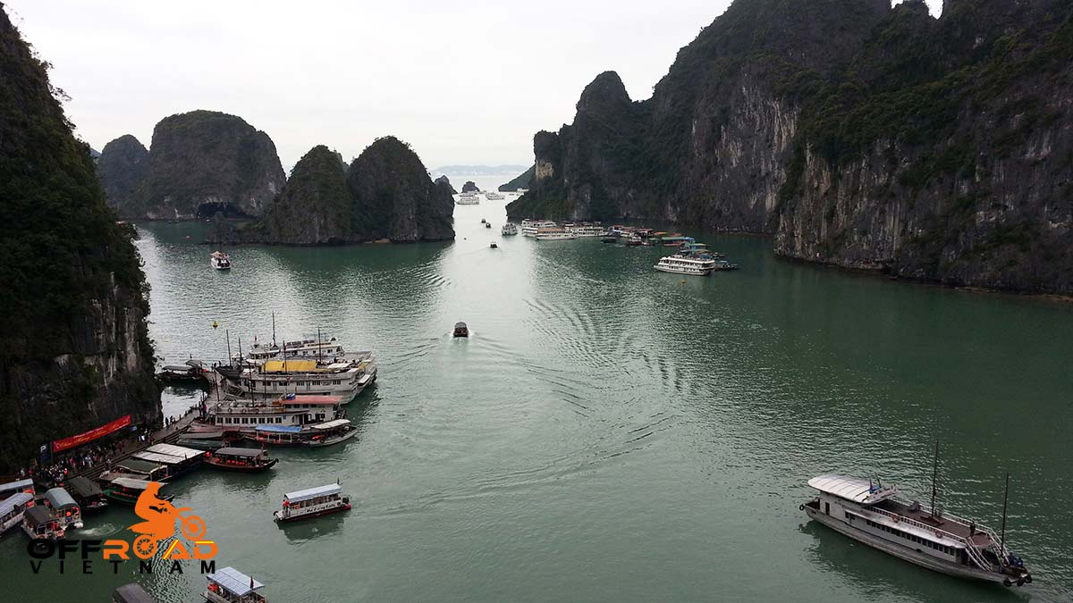 Offroad Vietnam Motorbike Adventures - Grand North loop 13 days motorbike tour via Halong Bay.