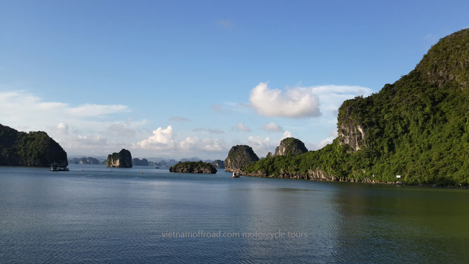 Halong Bay motorbike & motorcycle tours on Offroad Vietnam Motorbike Adventures - Grand North Loop 12 Days Motorbike Tour