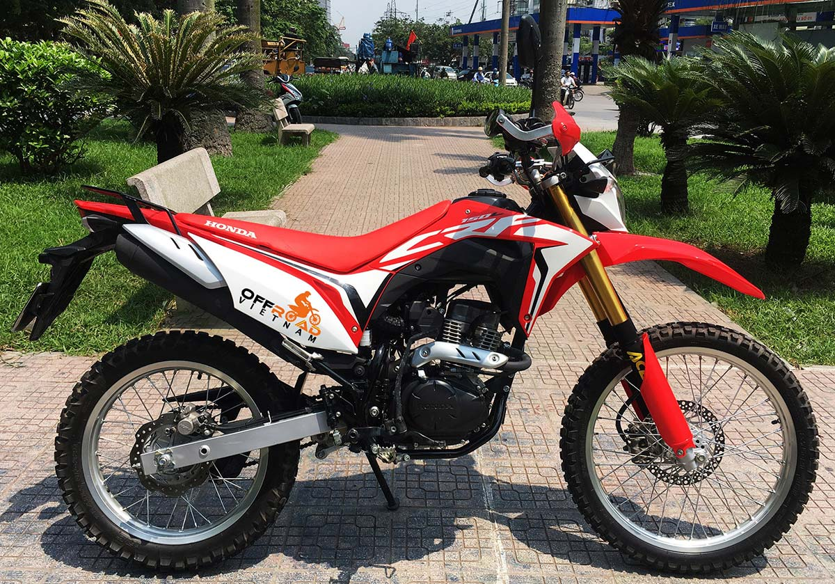 Offroad Vietnam Dirt Bike Rental - 2019 Honda CRF150L 150cc enduro for rent or guided tours in Hanoi, Northern Vietnam.