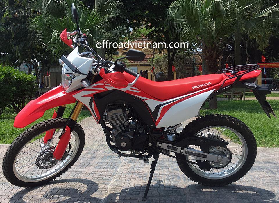 Offroad Vietnam Dirt Bike Rental - Honda CRF150L enduro 150cc In Hanoi. 2019 Honda dirt (trail) bike Honda CRF150L 150cc Red, front and rear disc brakes