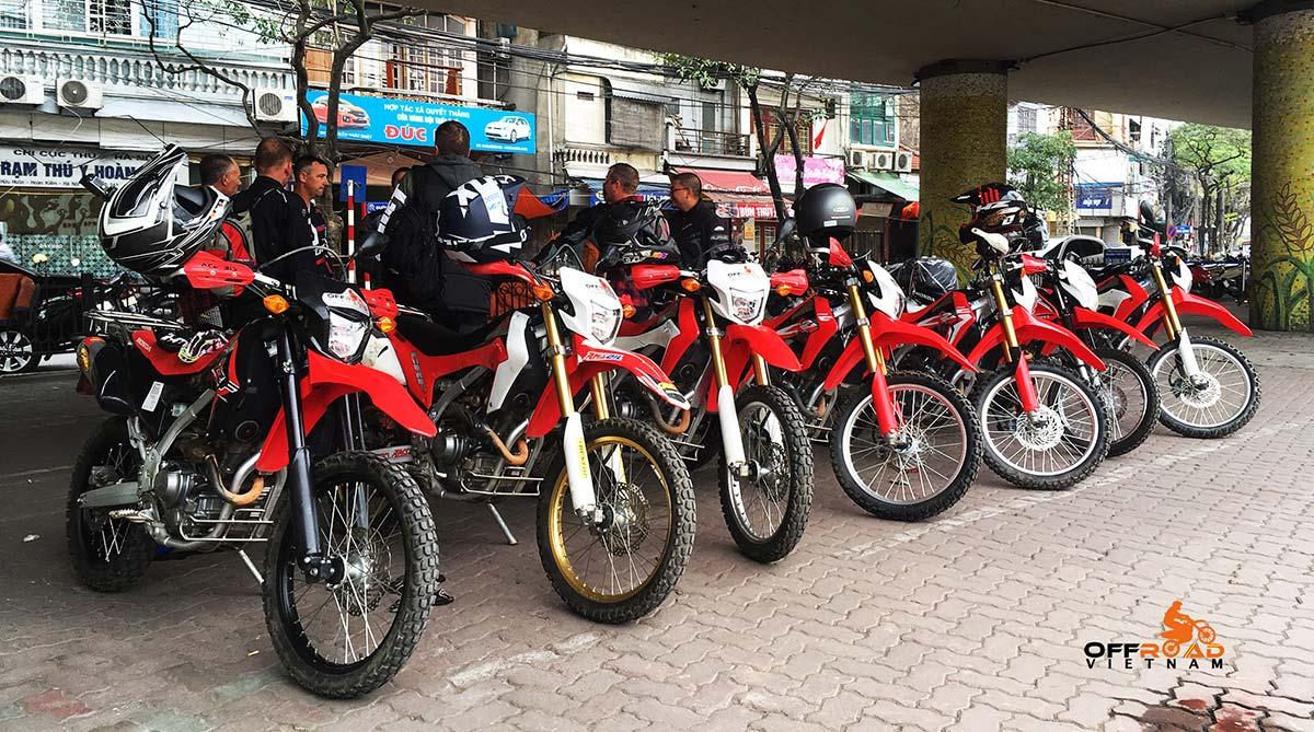 Offroad Vietnam Dirt Bike Rental - 014-2017 Honda dual enduro Honda CRF250L 250cc for rent or guided tours in Hanoi, Northern Vietnam.