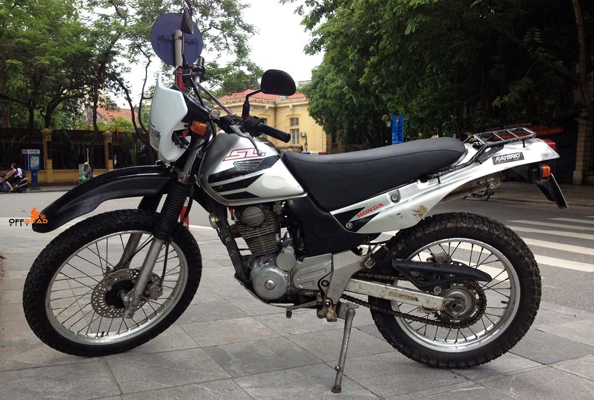 Offroad Vietnam Motorbike Sale - Honda SL 223cc Dirt Bike For Sale, Hanoi. Silver, Black. Front & Back Disc Brakes