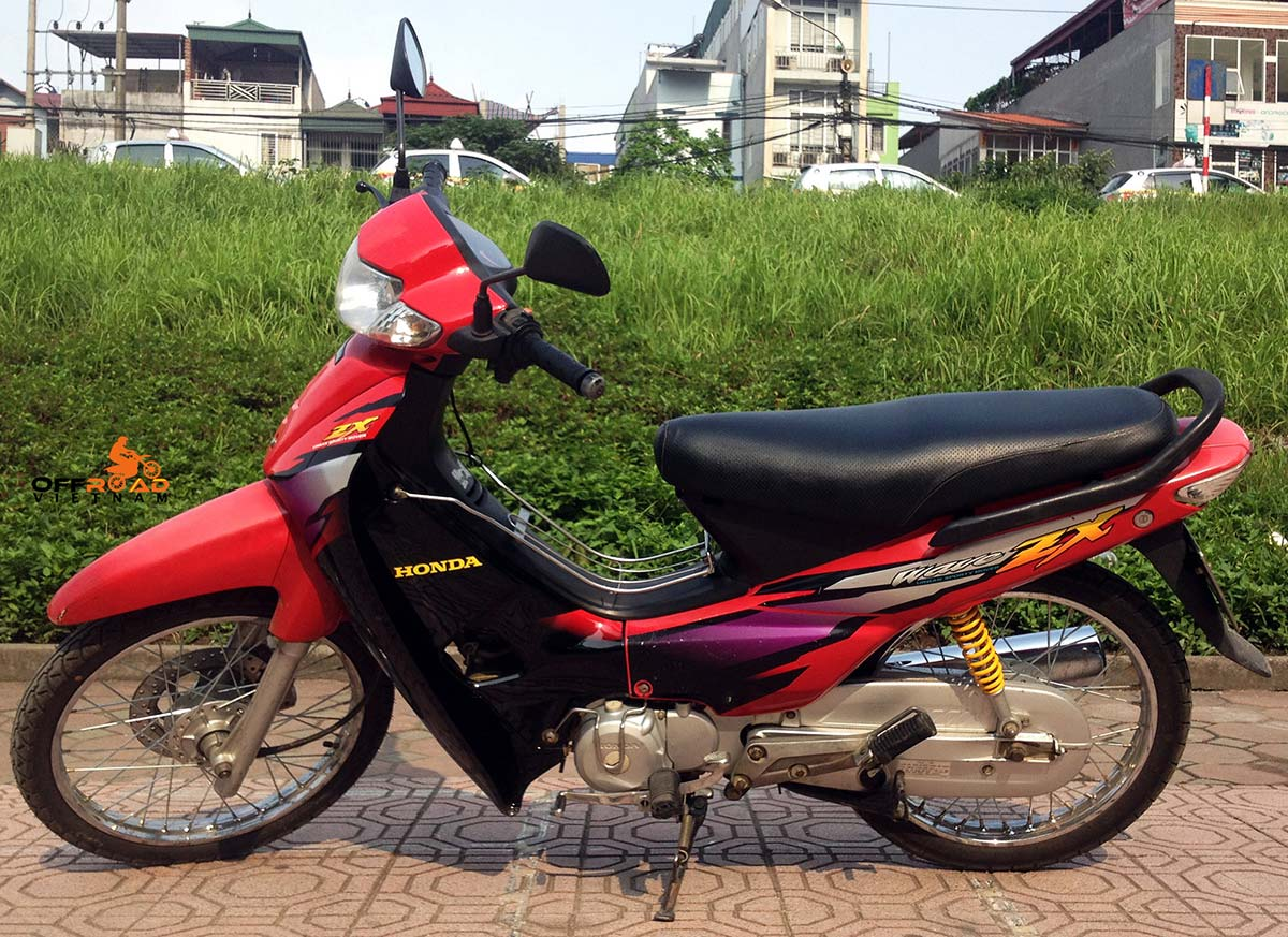 Offroad Vietnam Scooter Rental - Other 100cc Series Scooter Rentals. Honda Wave 100cc red