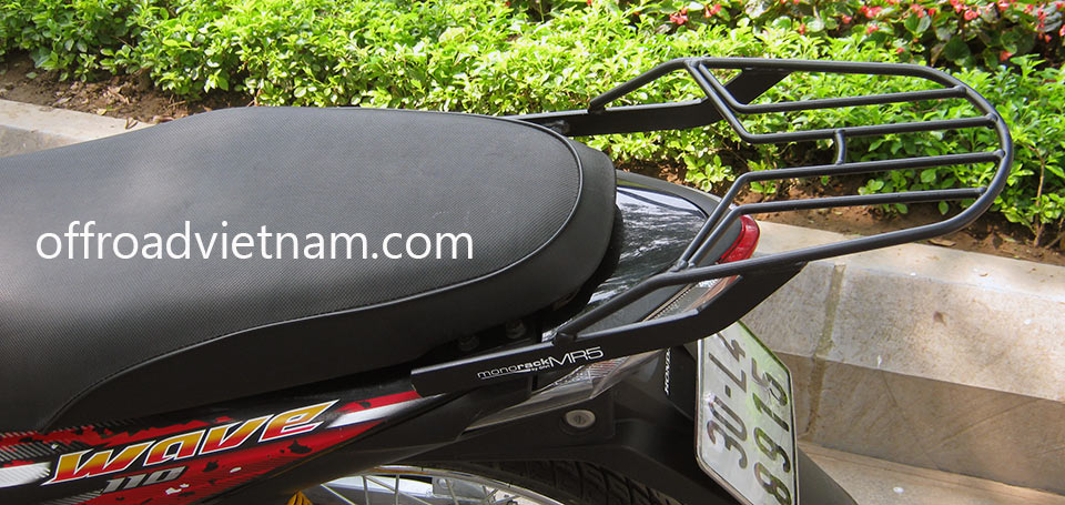 Offroad Vietnam Motorbike Adventures - Riding Gear For Motorbiking Safely: Honda Wave 110cc series luggage rack