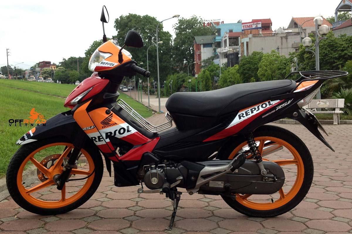 Offroad Vietnam Motorbike Sale - Honda Wave RSV 2008 Scooter For Sale. 2008 100cc Orange. Front Disc Back Drum Brake