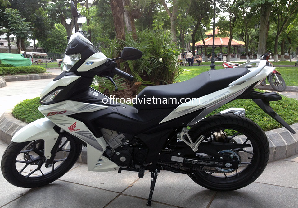 Offroad Vietnam Motorbike Adventures - Honda Winner 150cc For Rent In Hanoi. Honda Winner 150cc White & Black, Disc brakes, cast wheels