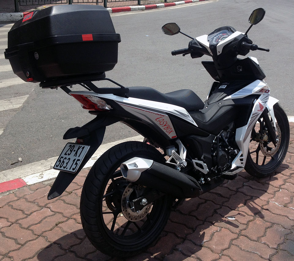 Offroad Vietnam Motorbike Adventures - Honda Winner 150cc For Rent In Hanoi. Honda Winner 150cc White & Black, Disc brakes, cast wheels. Optional large rear box of 39 litres.
