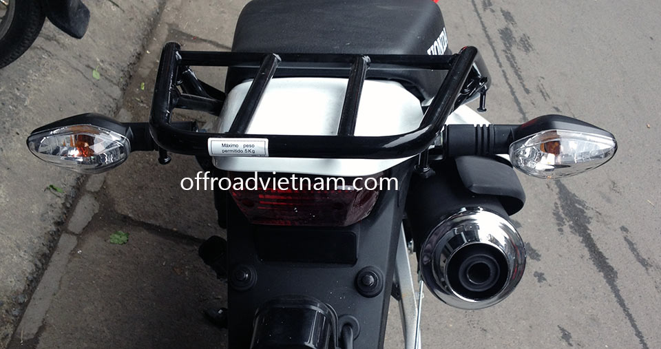 Riding Gear For Motorbiking Safely: Honda XR125/150 luggage rack
