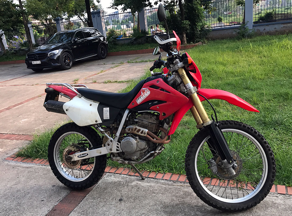 Offroad Vietnam Used Dirt Bikes For Sale In Hanoi - 2003 red dirt bike used Honda XR250L 250cc for sale in Hanoi