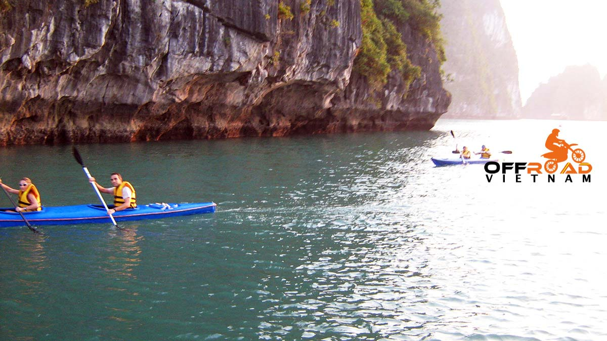 Offroad Vietnam Motorbike Adventures - Cruising and kayaking. Sea kayaking in Halong Bay and Cat Ba in 3 days.