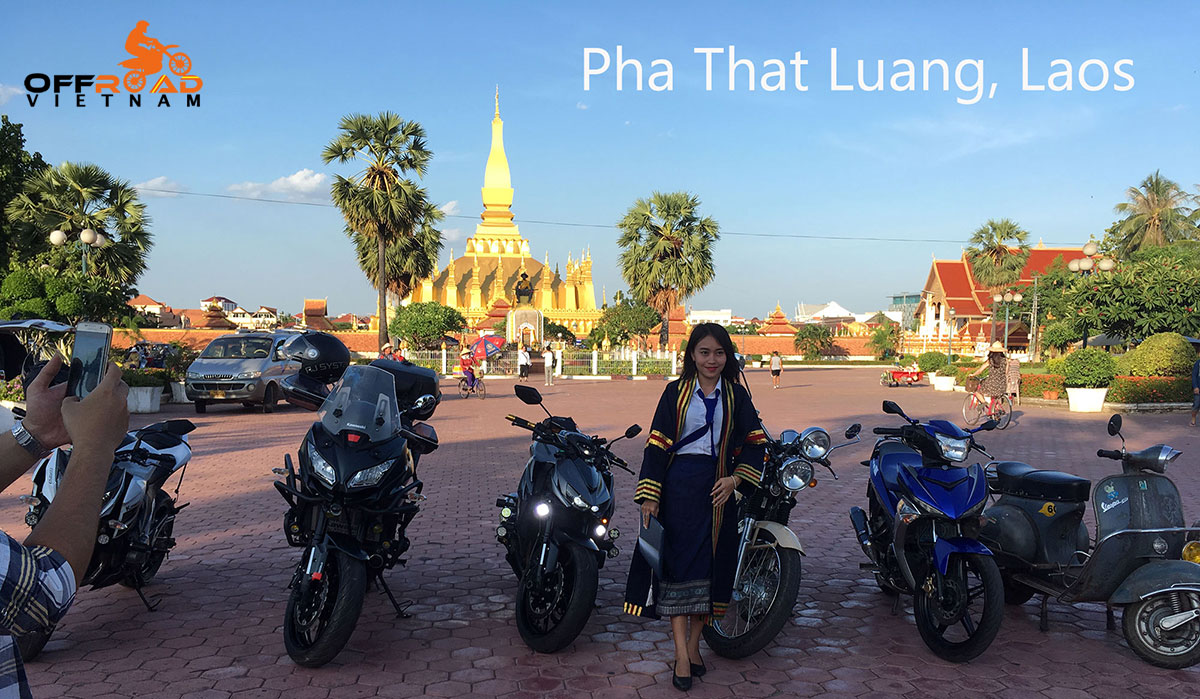 Offroad Vietnam Motorbike Adventures - Lao Off-road Motorcycle Tours, Vientiane, Pha That Luang.