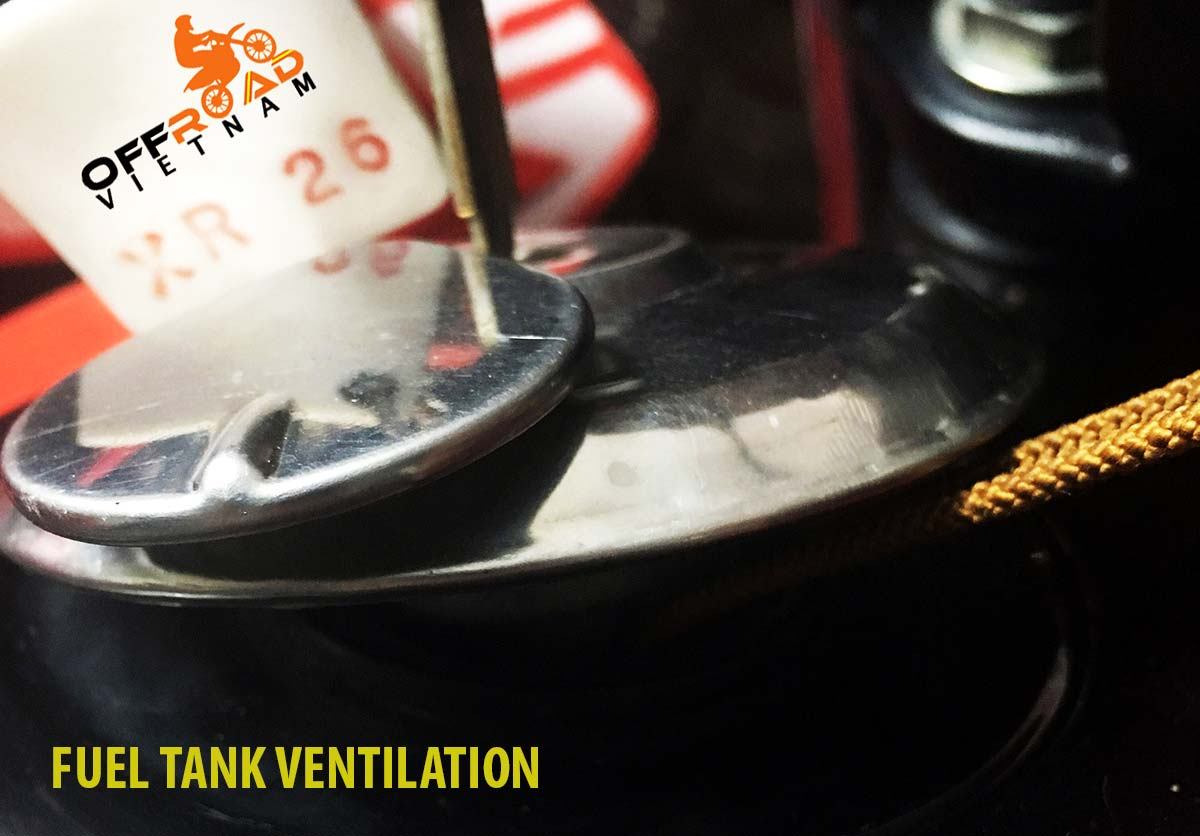 How to fix ventilation of the fuel tank lock, Manual motorbikes.