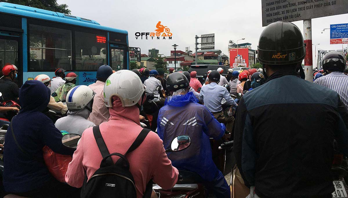 Offroad Vietnam Motorbike Adventures - BikePoint Australia press release. Honk if you are riding in Hanoi traffic.