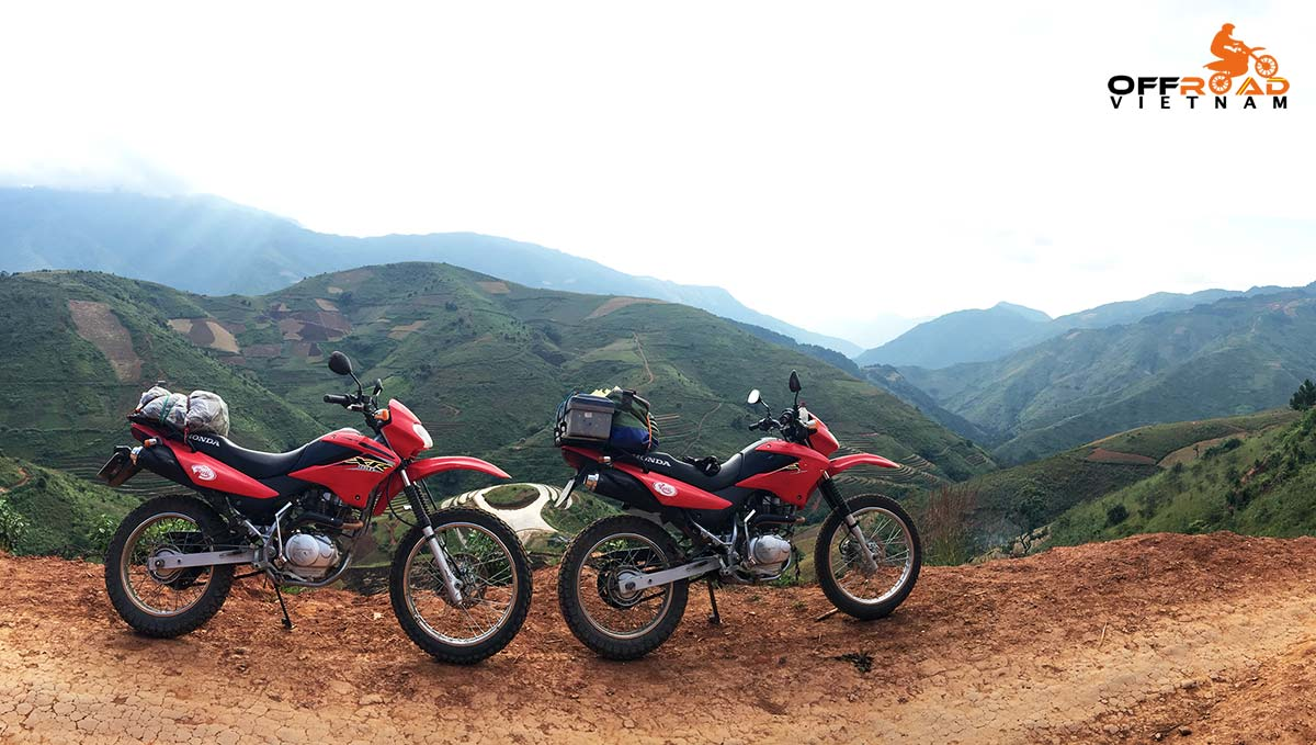 Offroad Vietnam Motorbike Adventures - North West 11 Days Loop Motorbike Tour by dirt bike Honda XR125L.