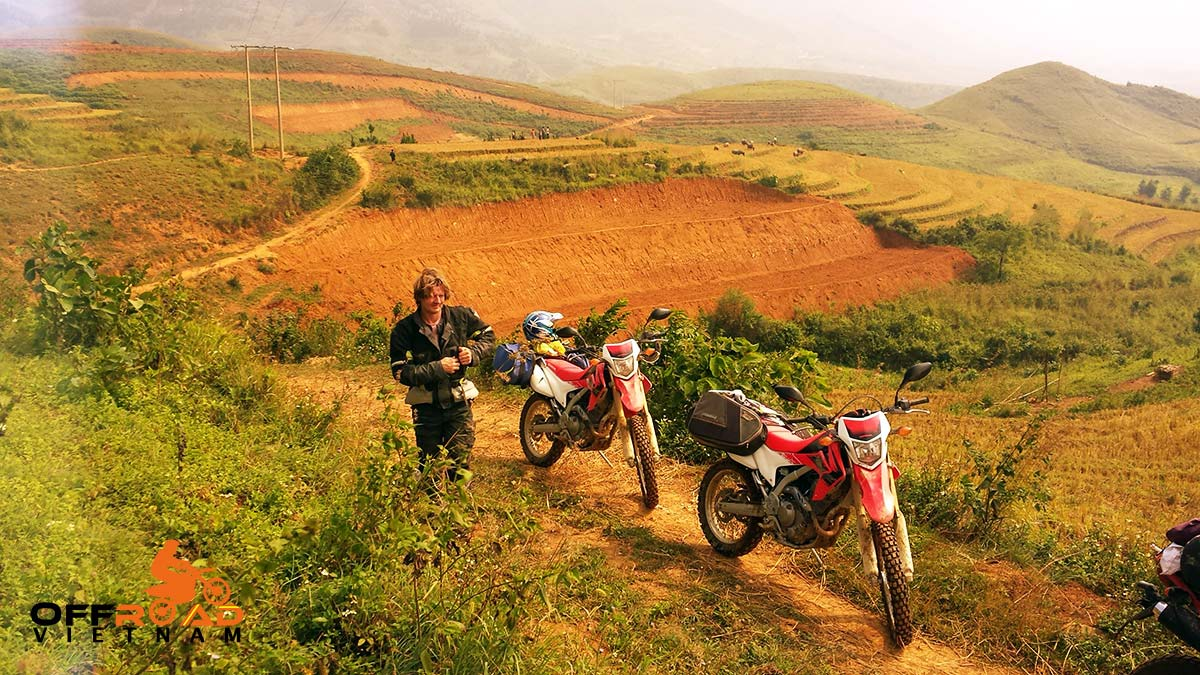 Offroad Vietnam Motorbike Adventures - Motorcycling Northwest Vietnam in 11 days through rice fields up to Sapa.