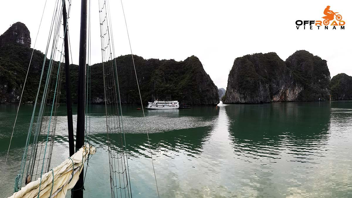 Offroad Vietnam Motorbike Adventures - Junk boat cruise in Ha Long Bay.