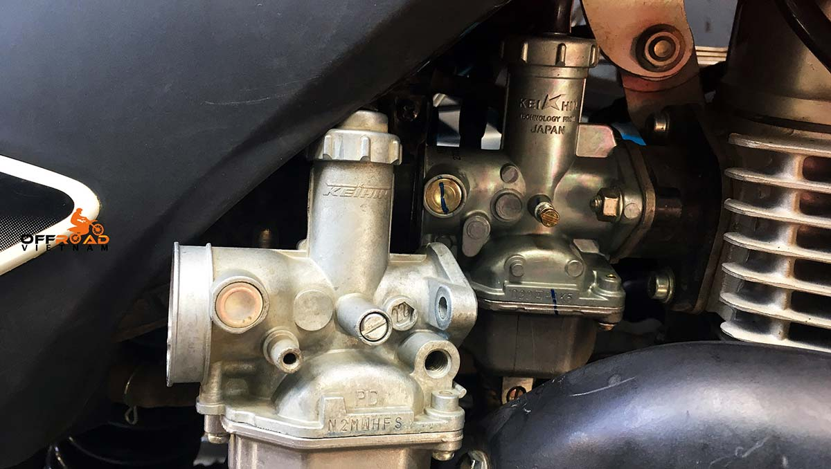 Offroad Vietnam Motorbike Adventures - Honda XR150L was installed with a better carburettor.