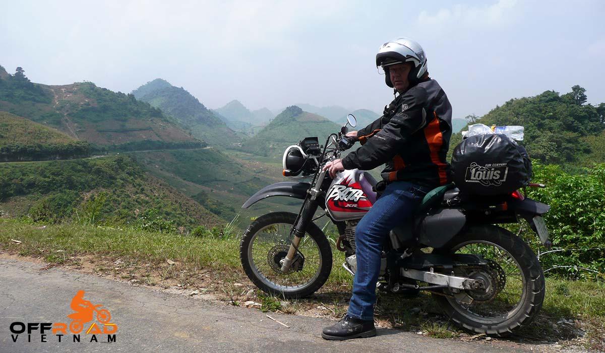 Offroad Vietnam Motorbike Adventures - Vietnam, You're Standing In It - Book. On Honda XR250 Baja.