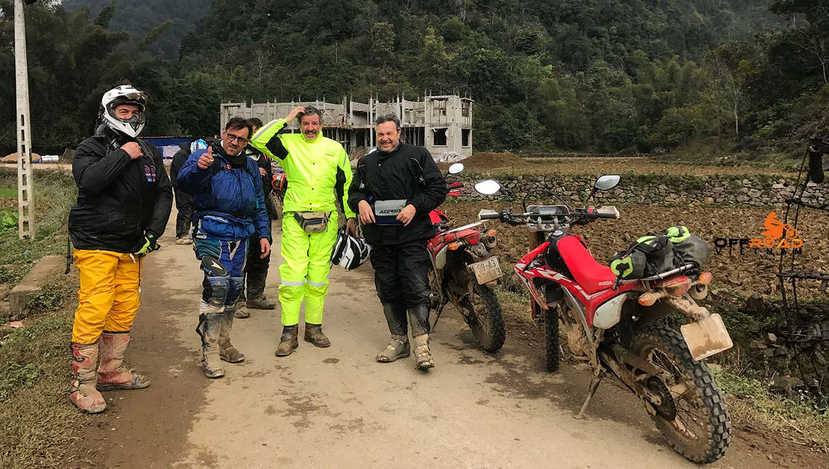 Offroad Vietnam Motorbike Adventures - Riding Gear For Motorbiking Safely in Vietnam. Wet weather gear, jacket and pants are much better than ponchos.
