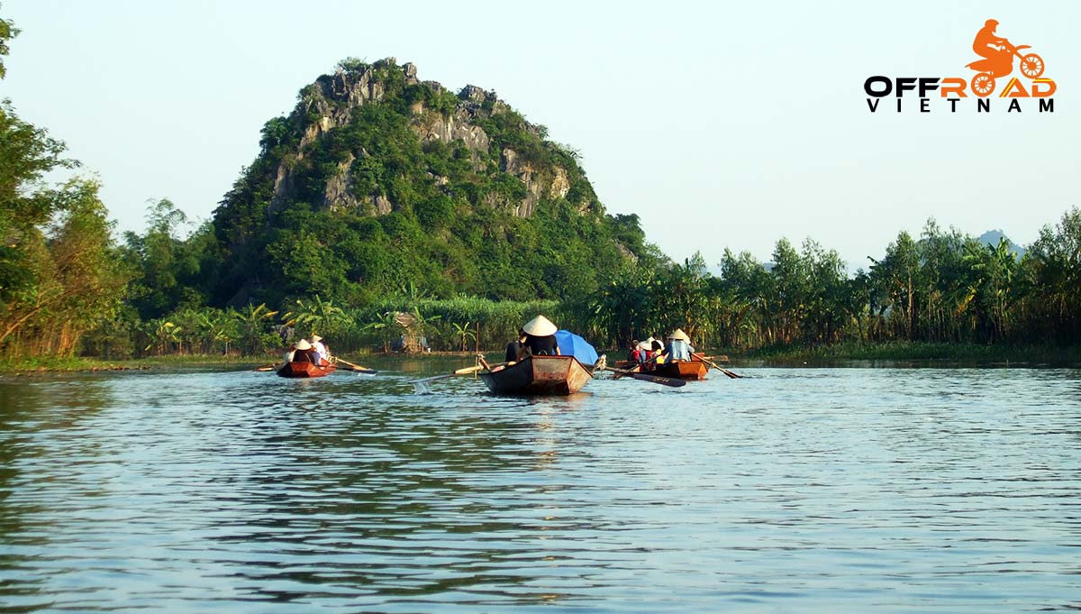 Offroad Vietnam Motorbike Adventures - Perfume Pagoda in one day by motorbike, with a lazy boat cruise.